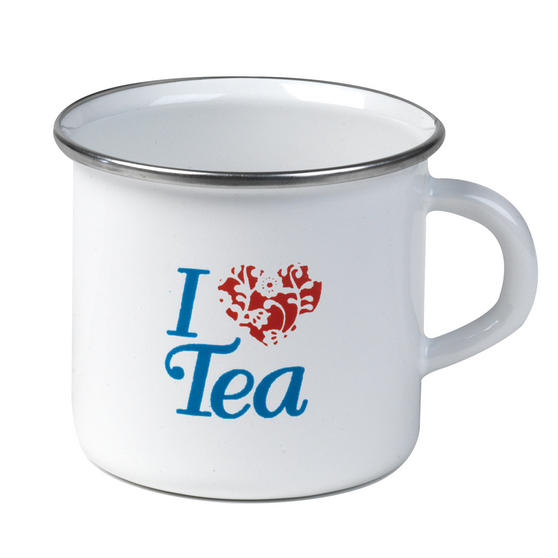 Cambridge 9cm Enamel I Love Tea Mug