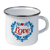 Cambridge 9cm Enamel Love Mug