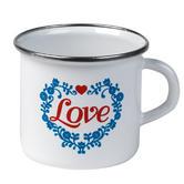 Cambridge 9cm Enamel Love Mug