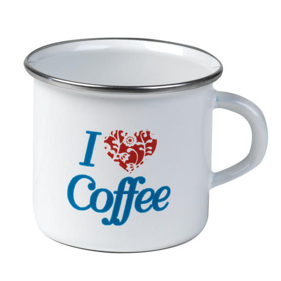 Cambridge 9cm Enamel I Love Coffee Mug