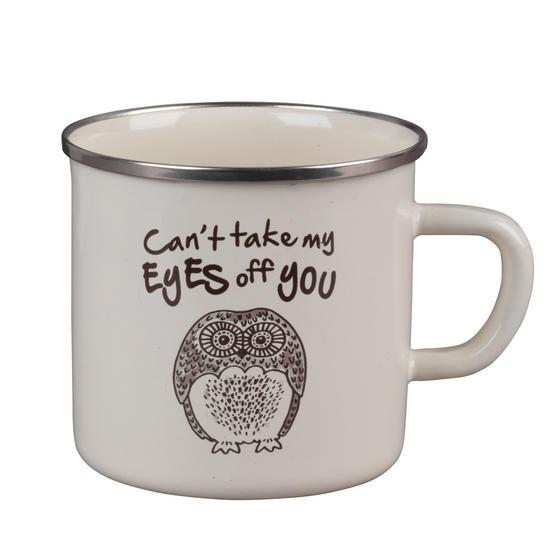 Cambridge BW0397508 Enamel Owl Eyes Mug