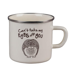 Cambridge BW0397508 Enamel Owl Eyes Mug Thumbnail 1