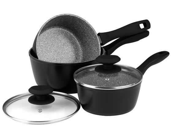 Russell Hobbs Stone Collection 3 Piece Grey Pan Set