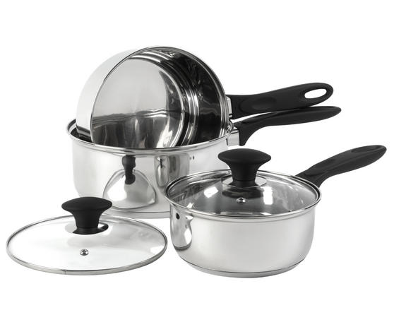 Russell Hobbs Magnus 3 Piece Stainless Steel Pan Set BW04229