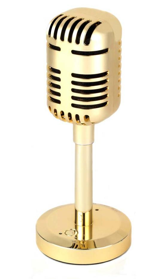 Intempo Gold Bluetooth Microphone Speaker