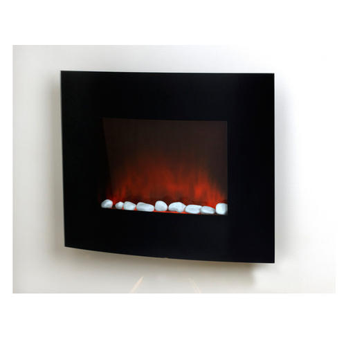 Inspire By Prolectrix, Valencia Small Curved Black Electric Fire ...