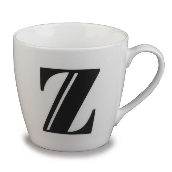 Inspire 10cm Fine Bone China Black Alphabet Mug Z CM04627