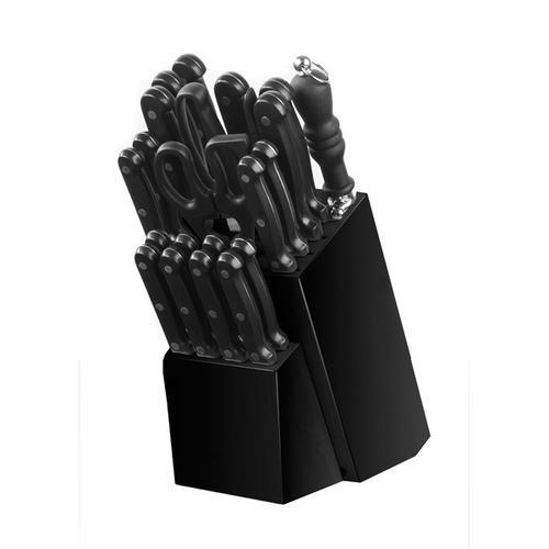 Ke Magnus Black 22pc Knife Block Set