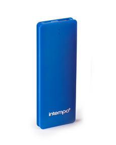 Intempo EG0285 Blue 2600MaH Slim Polymer Power Bank Charger