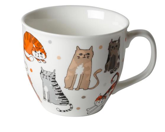 Cambridge Oxford Cartoon Cats Fine China Mug CM04328