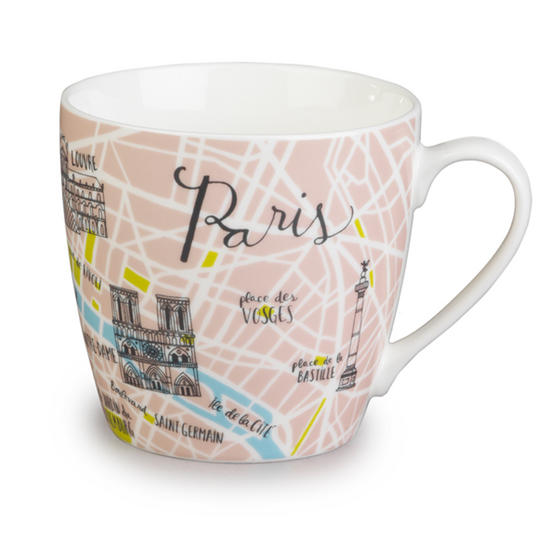 Cambridge Harrogate Paris Traveller Fine China Mug CM04698