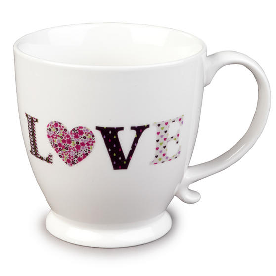 Cambridge Kensington Love Fine China Mug  Set Of 4 CM04715
