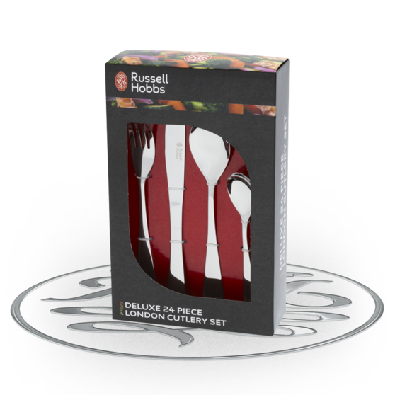Russell Hobbs Deluxe 24 Piece London Stainless Steel Cutlery Set BW03130 Preview