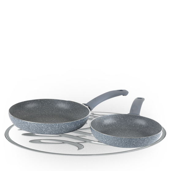 Russell Hobbs Stone Collection Daybreak Twin Pack 20cm/24cm Frying Pans Preview