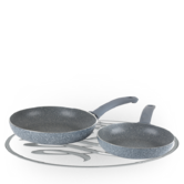 Russell Hobbs Stone Collection Daybreak Twin Pack 20cm/24cm Frying Pans Thumbnail 1