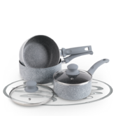 Russell Hobbs Stone Collection Daybreak 3 Piece Kitchen Pan Set BW03721DB