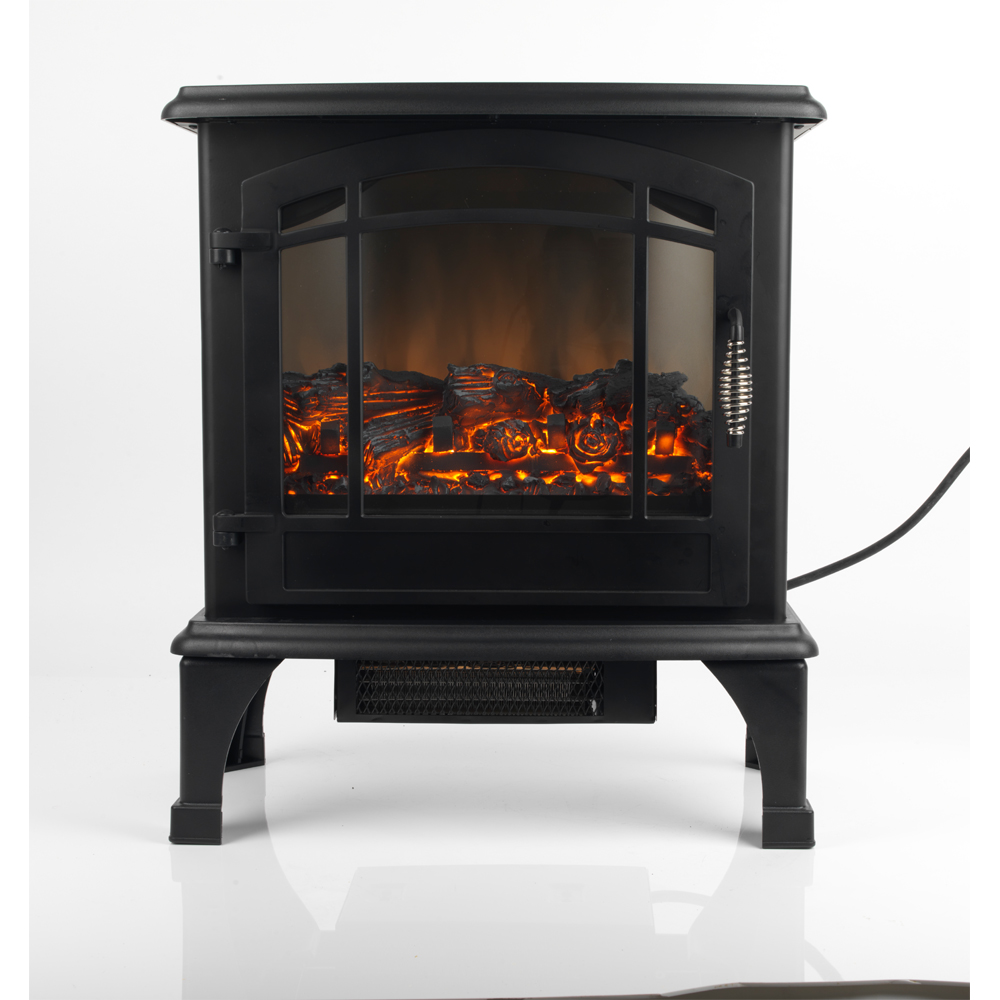 Black Electric Stove ~ Beldray quot panoramic watt black electric stove