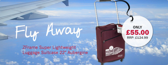 "ZFrame Super Lightweight Luggage Suitcase 22"" Aubergine"