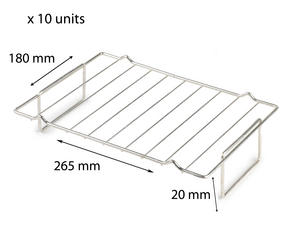 Stainless Steel 265mm x 180mm Cooling Roasting Rack RACK0007x 10 units Thumbnail 1