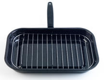 Salter 38cm Black Enamel Grill Pan With Rack And Handle BW00121 Thumbnail 2