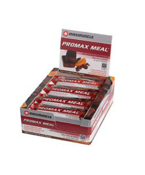 Maximuscle Chocolate Orange Promax Bars - Box Of 12 x 60g