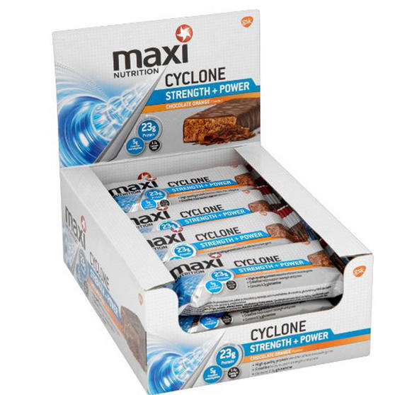 Maximuscle Chocolate Orange Cyclone Bars - Box Of 12 x 60g