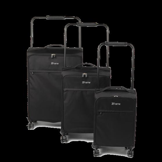 """ZFrame 8 Wheel Super Lightweight Suitcase Set, 18, 22 & 26"""", Black"""