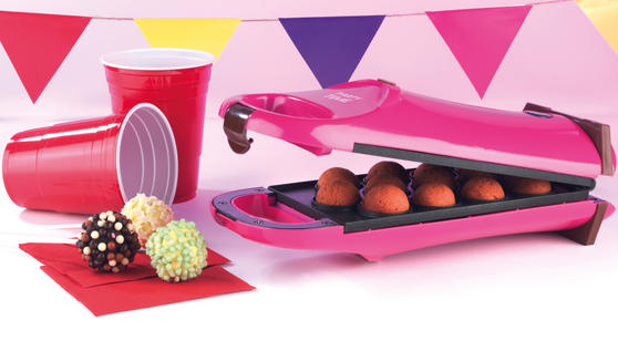 Party Time EK2069 Pink 180° Flip Over Cake Pop Maker