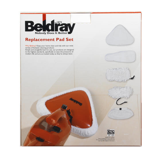 Beldray 6 Replacement Microfibre Pad Set For Beldray 10-in-1 Steam Cleaner BEL0234