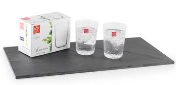RCR Armonia Set Of 2 High Tumblers Luxion Glass 55cl 252340
