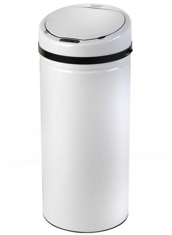 Russell Hobbs BW04512 Round 30 Litre White Sensor Bin