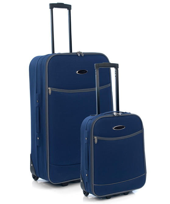 Constellation 2 Piece Navy with Grey Trim Eva Suitcase Set 18? & 28?