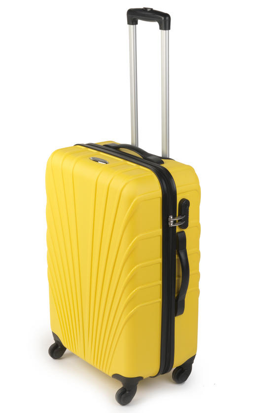 "Constellation Arc ABS Suitcase, 24"", Yellow"
