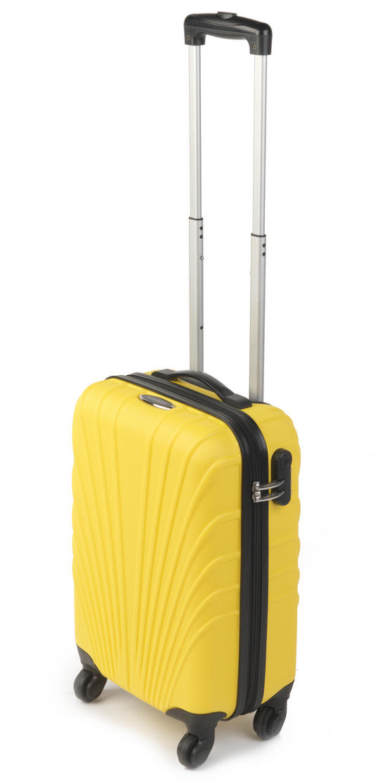 "Constellation Arc ABS Suitcase, 18"", Yellow"
