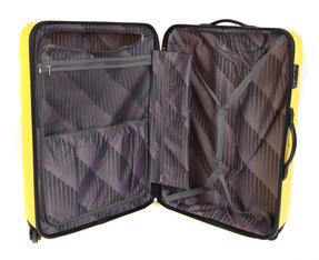 "Constellation Arc ABS Suitcase, 18"", Yellow Thumbnail 6"