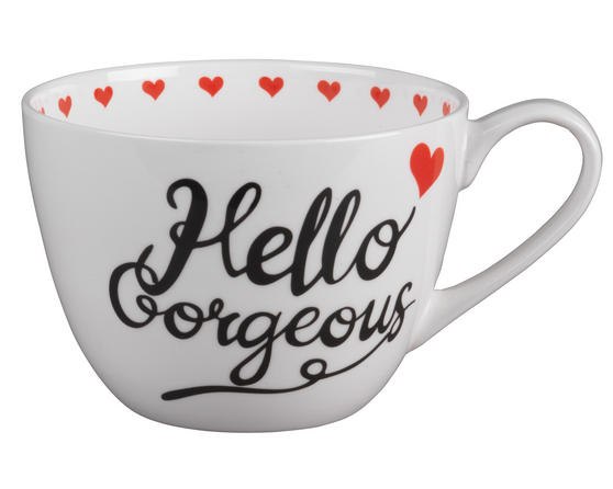 Portobello Wilmslow Hello Gorgeous Bone China Mug