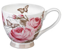 Portobello CM04776 Footed Roseraie Sandringham Fine Bone China Mug Thumbnail 1