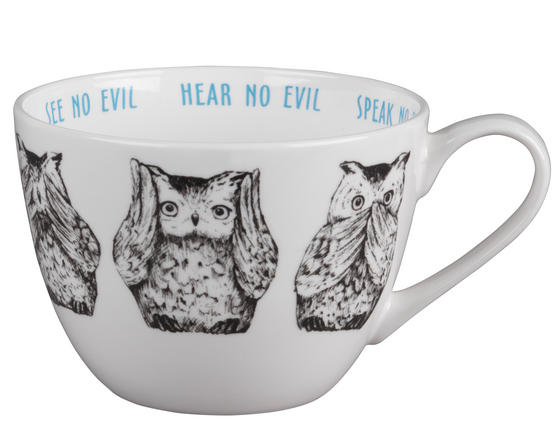 Portobello Wilmslow Three Wise Owls Bone China Mug