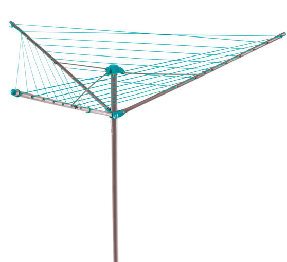 Beldray LA027634TQ Turquoise 26 Metre Rotary Outdoor Clothes Airer Thumbnail 1