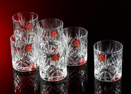 RCR 25935020006 Crystal Melodia Whiskey Glasses Set of 6