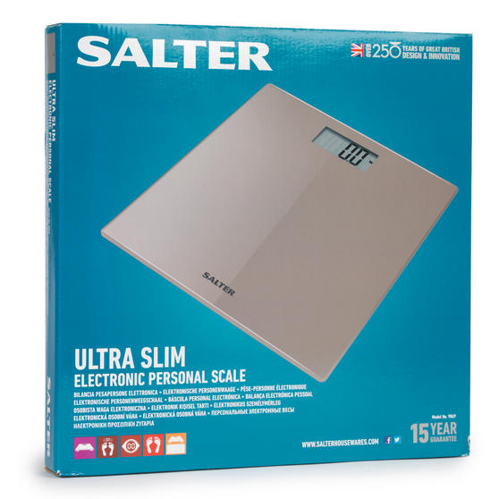 Salter 9069nu3r Beige Ultra Slim Glass Electronic Scale Bathroom Accessories No1brands4you
