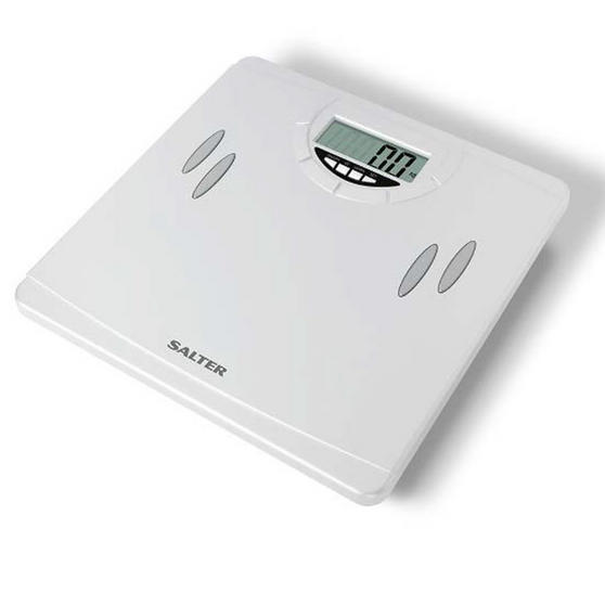 Salter 9139WH3T Compact Analyser Bathroom Scale, White