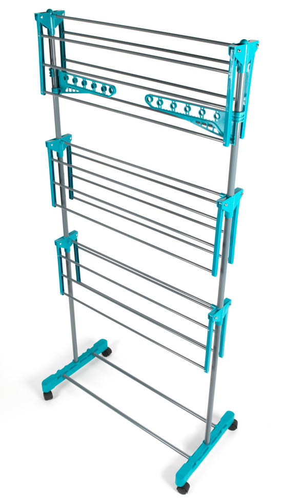 Beldray LA023773TQ Turqouise 3 Tier Deluxe Clothes Airer Thumbnail 2