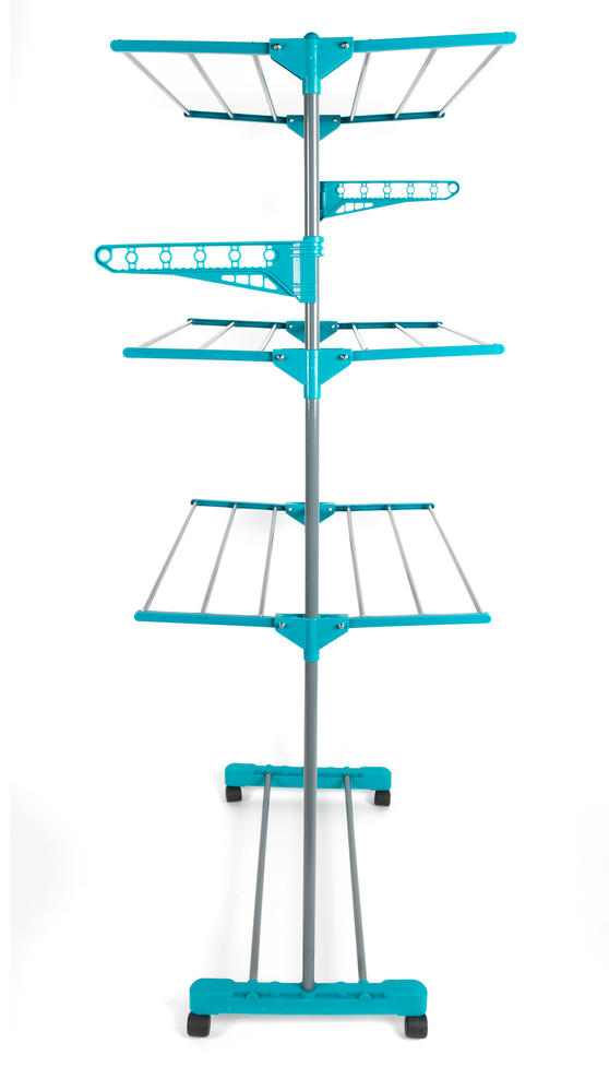 Beldray LA023773TQ Turqouise 3 Tier Deluxe Clothes Airer Thumbnail 3