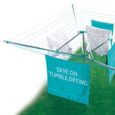 Beldray LA031198TQ Turquoise 50 Metre Rotary Outdoor Clothes Airer Thumbnail 2