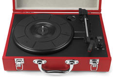 Intempo Red Executive Valise Rechargeable Audio Turntable Thumbnail 2