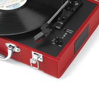 Intempo Red Executive Valise Rechargeable Audio Turntable Thumbnail 3