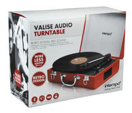 Intempo Red Executive Valise Rechargeable Audio Turntable Thumbnail 6