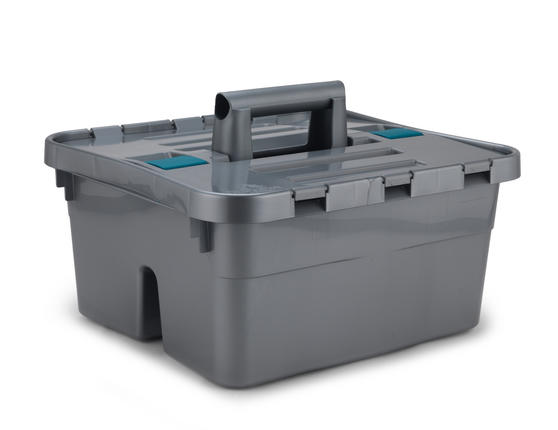 Beldray Small Grey Caddy with Lid Thumbnail 1