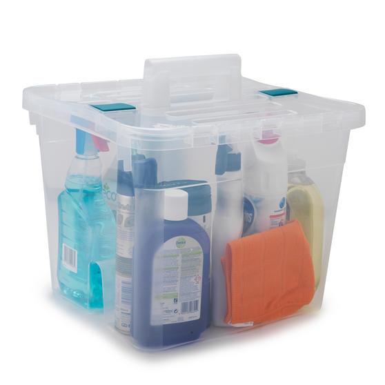 Beldray Large Clear Caddy with Lid Thumbnail 1